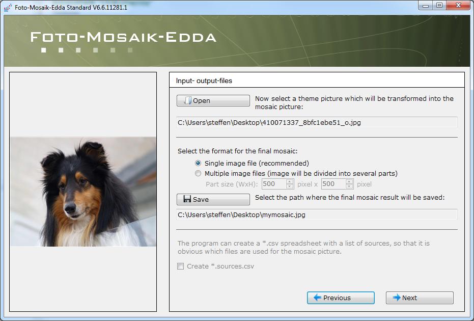 Foto-Mosaik-Edda Portable full screenshot